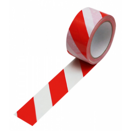 PVC-Warnband 66mx50mm (rot/weiss, geld/schwarz)