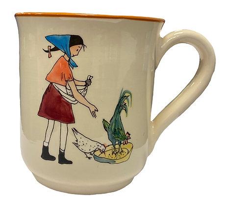 "Mug ""Flurina mit Ziege"""