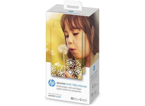 HP sprocket 4x6 4kk83A80 sheets/2cartridges