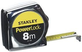 Rollmeter Powerlock 8m mit Feststellvorrichtung / SB