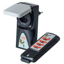IT Funk Adapter Schalter IP44 grün m. Handsender IP20