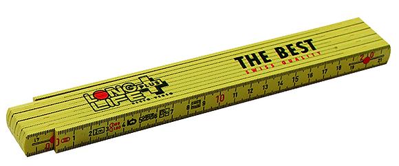 Gliedermeter Longlife 2m glasfaserverstärkt. Kunststoff