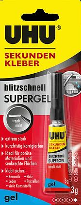 Sekundenkleber Uhu Super Power gel 3g