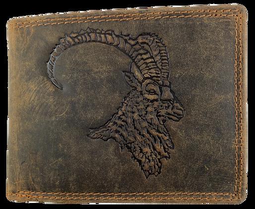 Brieftasche Wildleder Steinbock