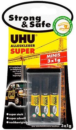 Alleskleber Super Strong+Safe 3x1g Tuben
