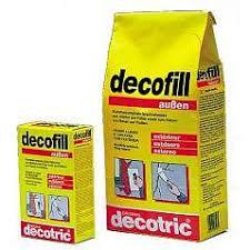 Gipsspachtelmasse für aussen decofill, weiss