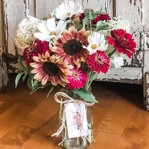 Sunnier Days Ahead Mason Jar Bouquet