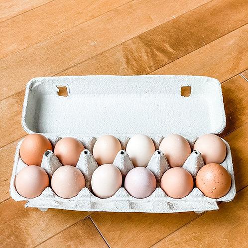 One Dozen Farm Eggs