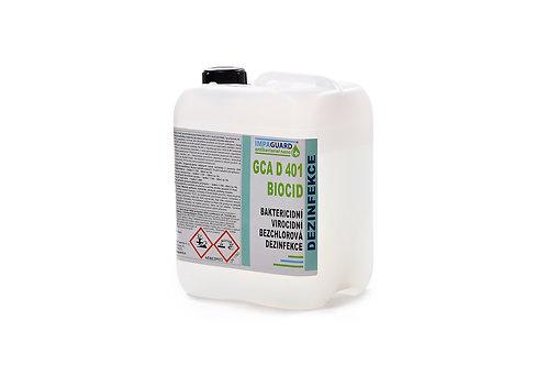 Antivirová a bakteriální dezinfekce GCA D401 Biocid (5 litrů) Pouze na profesion