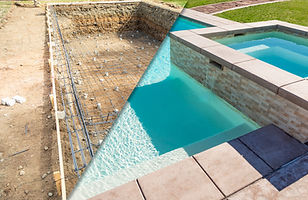 Before and After Pool Build Construction