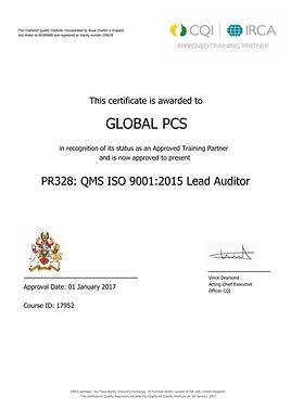 Global PCS - LA 9001 2015 - PR328 Course