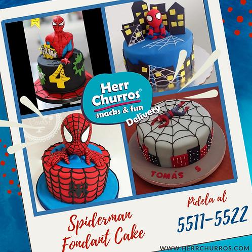 Pastel de Fondant de Spiderman