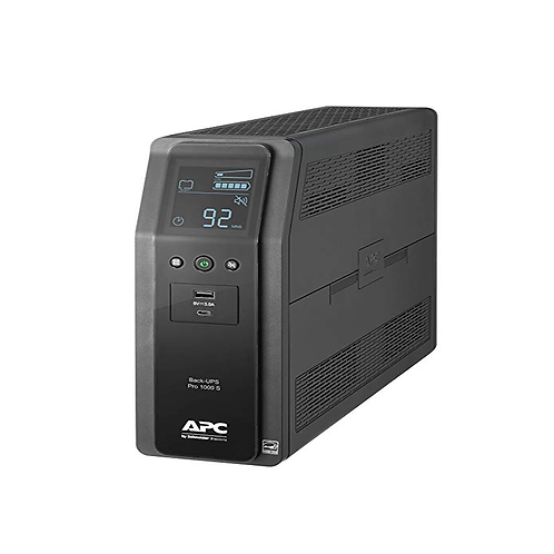 UPS 1000VA 10 outlets AVR LCD interface APC