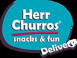 Logo Herr Churros Delivery azul magenta.