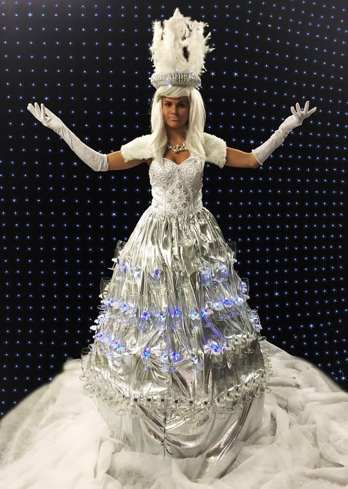 Hire a Winter Wedding Champagne Dress