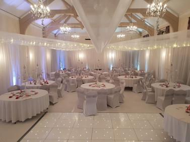 White Winter Wedding Themed Decor