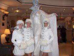 Winter Snow Queen and characters