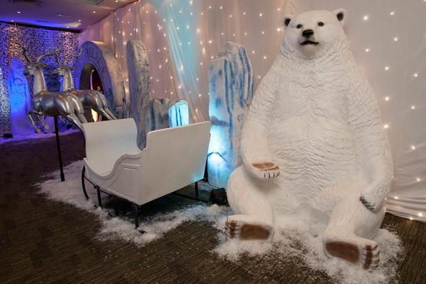 Winter Props Sleigh Polar Bear