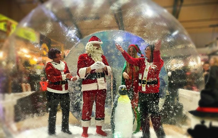 Hire an inflatable giant snow globe