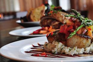 Gourmet Fisch auf Risotto
