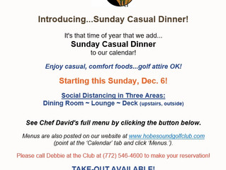 Introducing...Sunday Casual Dinner