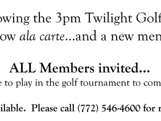 Twilight Tuesday Dinners are for All Members!