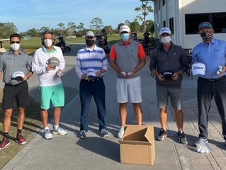 Executive Members Donate Balls & Hats to The First Tee of the Treasure Coast