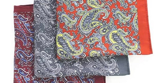 Paisley Grey and White