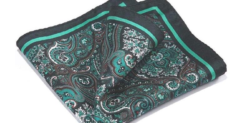 Paisley Dark Green