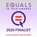 EQUALS in Tech Awards 2020 Finalist Badg