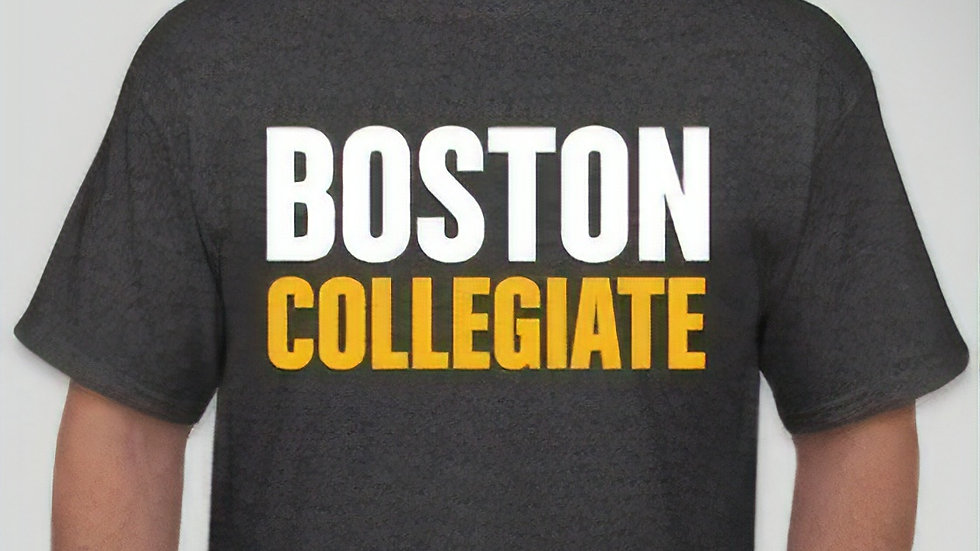 Gray Boston Collegiate Short Sleeved Spirit T-Shirt