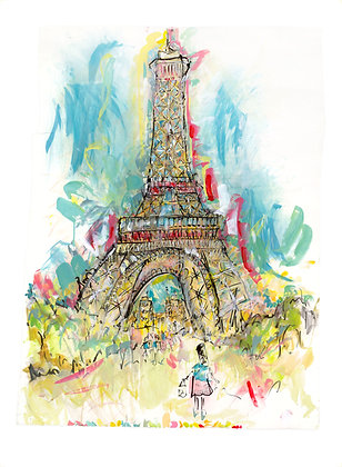 The Eiffel Tower, Paris by Lucinda Burman
