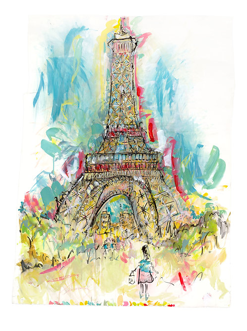 The Eiffel Tower, Paris by Lucinda Burman