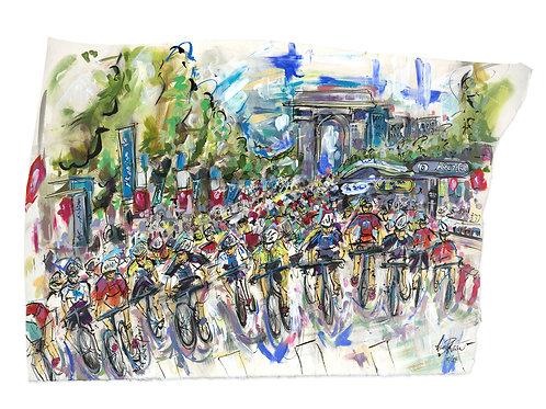 Tour de France, Champs-Elysées! by Lucinda Burman
