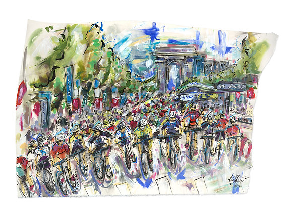 Tour de France, Champs-Elysées! by Lucinda Burman
