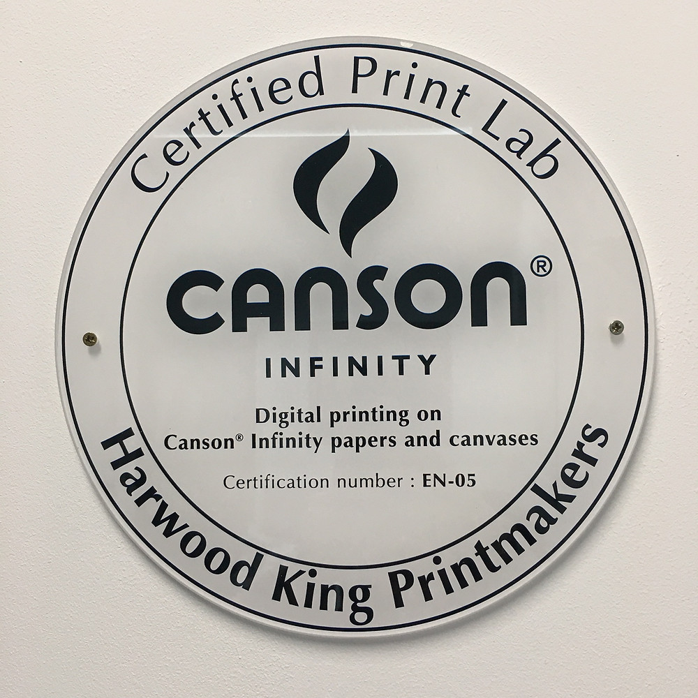 Harwood King Canson Certified Print Lab Plaque