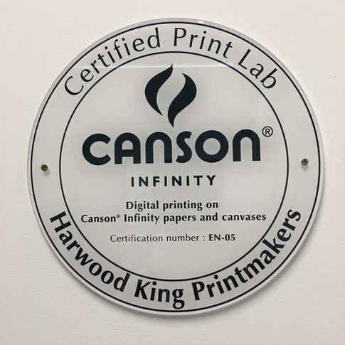 Harwood King is now a Canson® Infinity Certified Print Lab