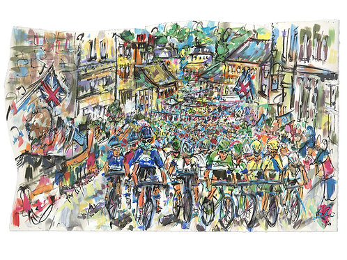Start of the Tour de France in the Uk 2014 by Lucinda Burman