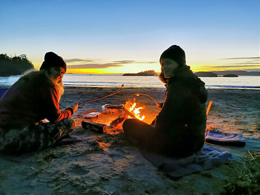 Beach Bonfire Tofino Sunset