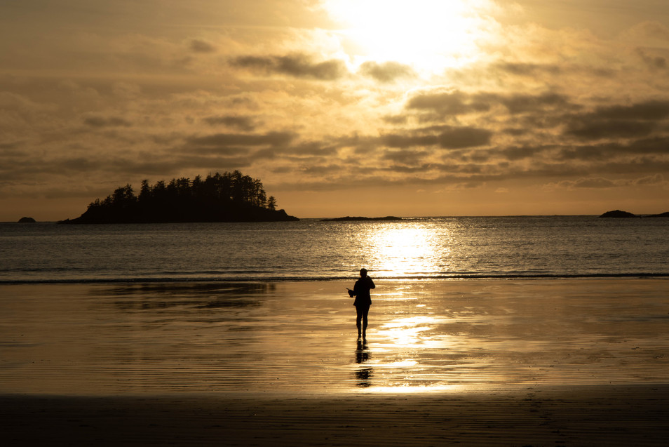 Sunset Mackenzie Beach Tofino British Columbia