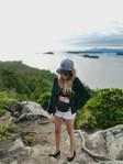 Cox Bay Beach Hike Girl Happy