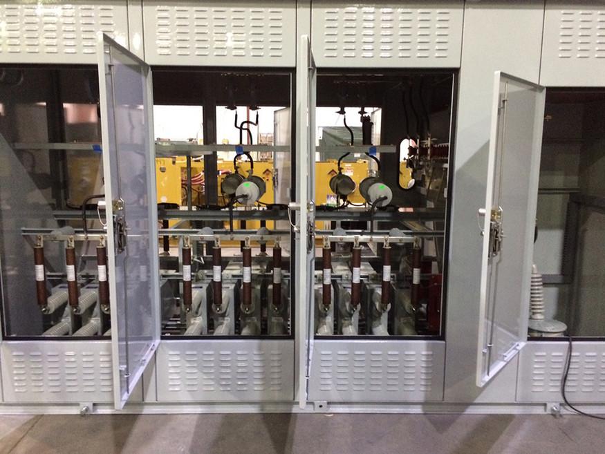 15kV 4.2 MVAR Delta-Connected Capacitor Bank Internals