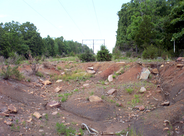 """White River Hydro; 2006; Point of Interconnect; Site Grading """"Before"""""""