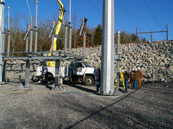 """White River Hydro; 2006; Point of Interconnect; Site Grading """"After"""""""