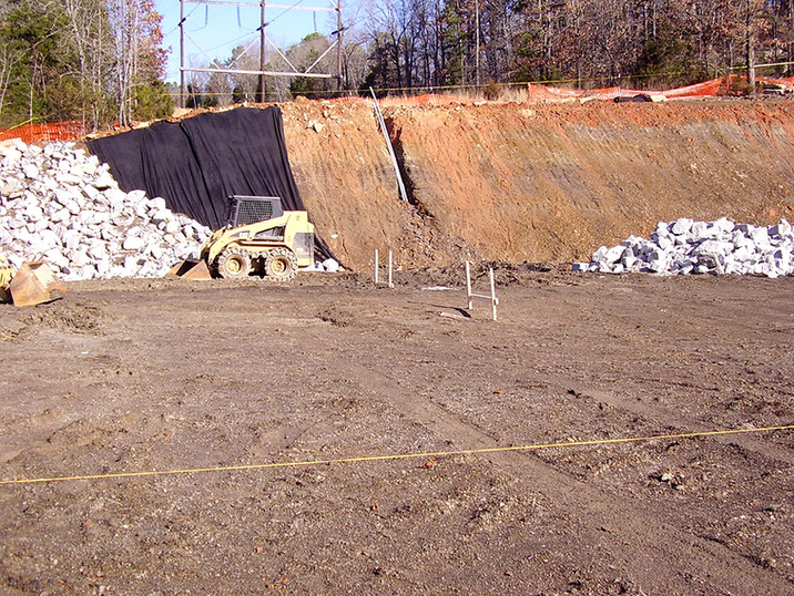 """White River Hydro; 2006; Point of Interconnect; Site Grading """"In Progress"""""""