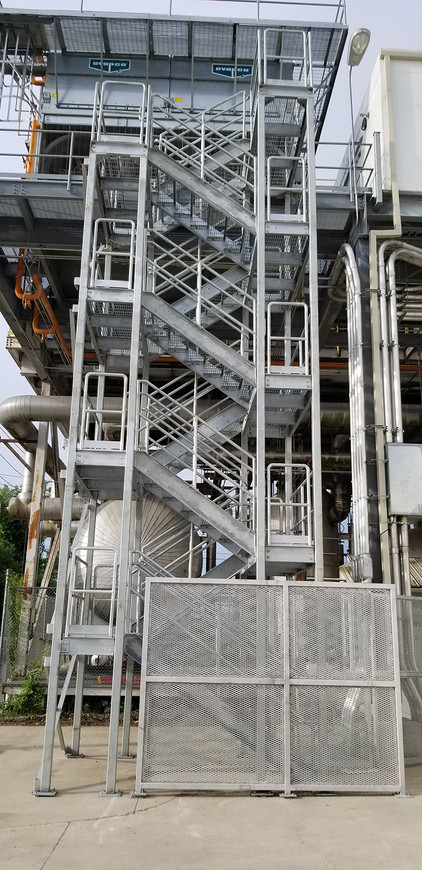Outdoor Access Stairwell to Motor Control Center