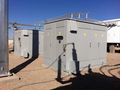 Two 4.8 MVAR Substation Metal Enclosed Capacitor Banks