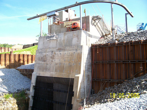 White River Hydro; 2006; Intake and Trash Rack