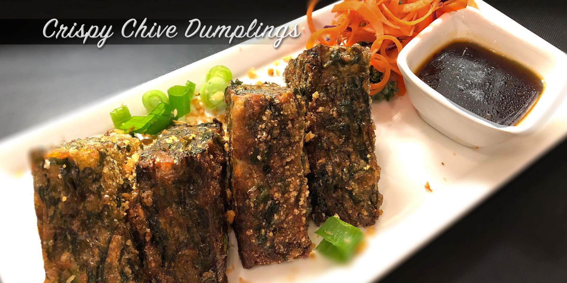 Crispy Chive Dumplings