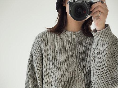 灰色針織外套10%wool